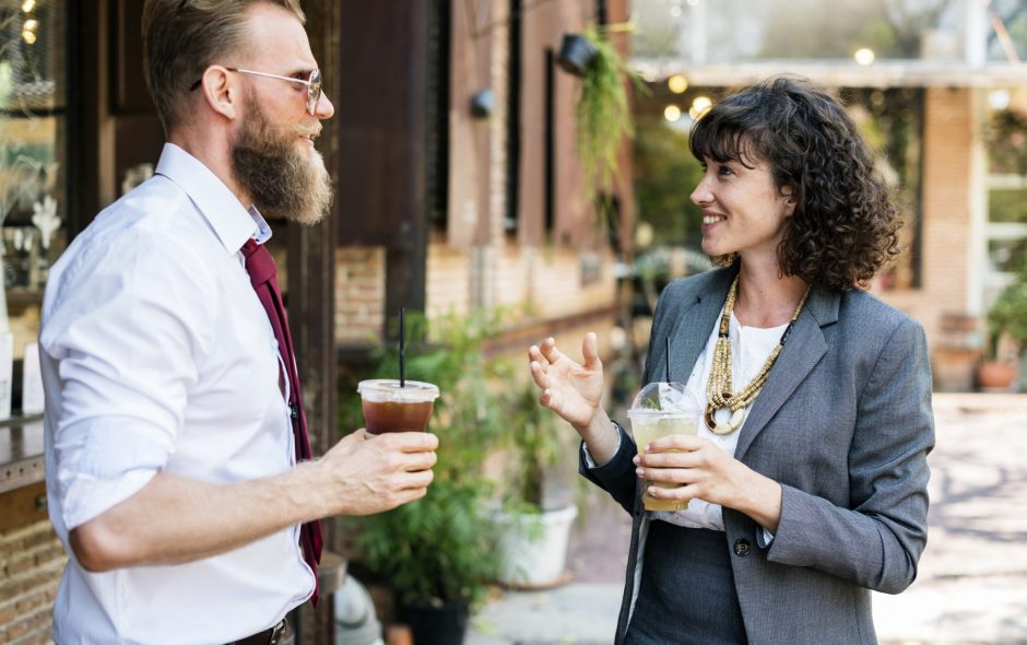 How to initiate small talk without saying a word